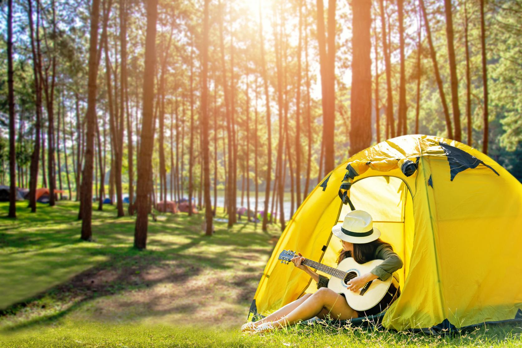 大自然を満喫!山中湖で森キャンプ