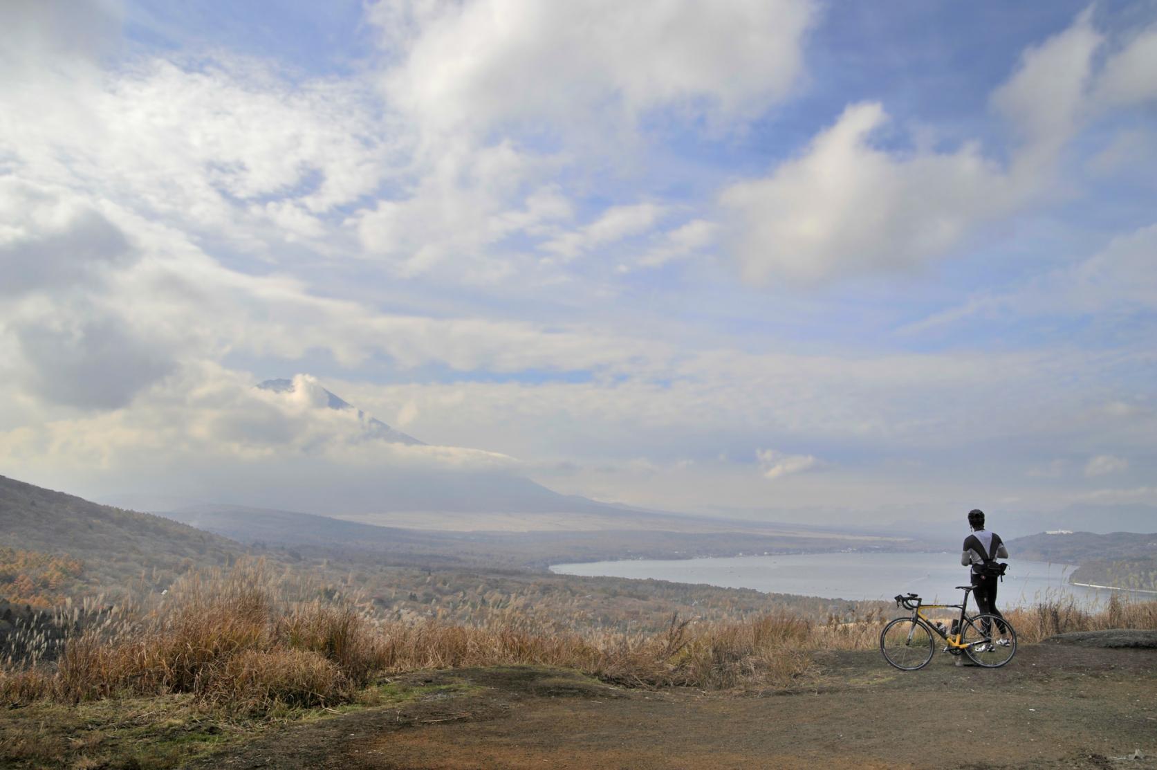 大自然に囲まれた山中湖でサイクリングを楽しもう!-3
