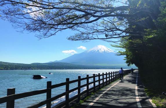 風を切る!山中湖一周サイクリング-1